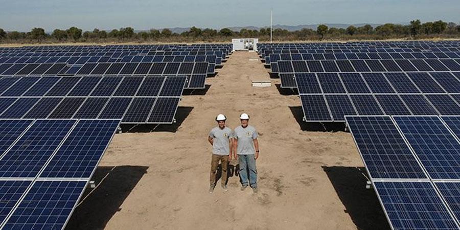 Ферма на солнечной энергии в Аргентине