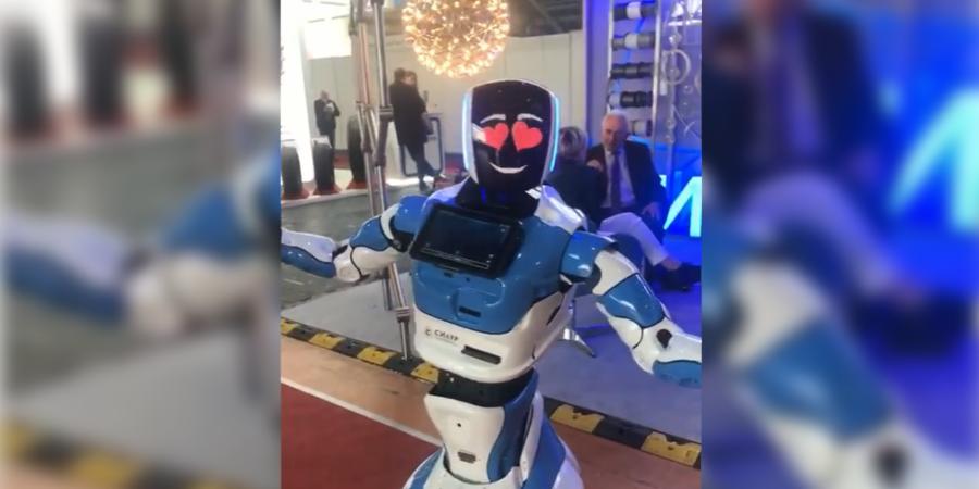 Танцующий робот на Белагро 2020