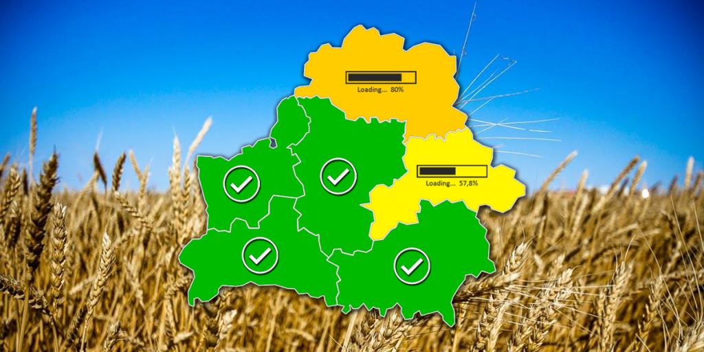Четыре области Беларуси завершили сев ранних яровых
