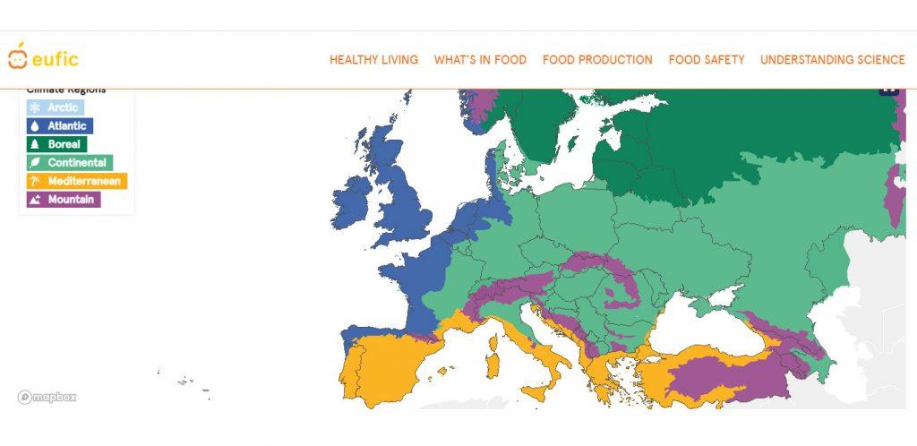 Европейская интерактивная карта свежих овощей и фруктов - Новости сельского хозяйства Беларуси